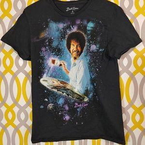 BOB ROSS Painter Galaxy Shirt Size Small